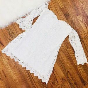 NEW Nasty Gal White Off Shoulder Lace Bardot Dress
